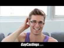 GayCastings traveling whore has a Big Dick and gets signed to porn agency