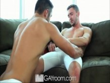 Gayroom horny baseball players play with hard bats