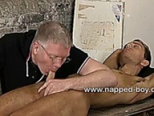 Bound Jacob Jaguar gets his cock sucked and teased