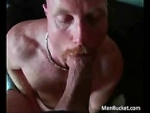 Mature amateur dudes love eating the cock