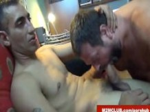 Hung latin dude fucking an English bear