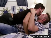 JD takes Brendans cock into his mouth and starts riding him