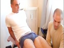 a bi straight french Sport guy get suced in spite of him by a gay guy !