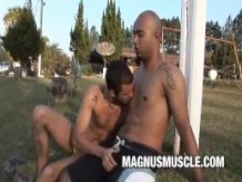 Matheus Axell and Erick Leony: Beefy Studs Outdoor Anal SexCapades